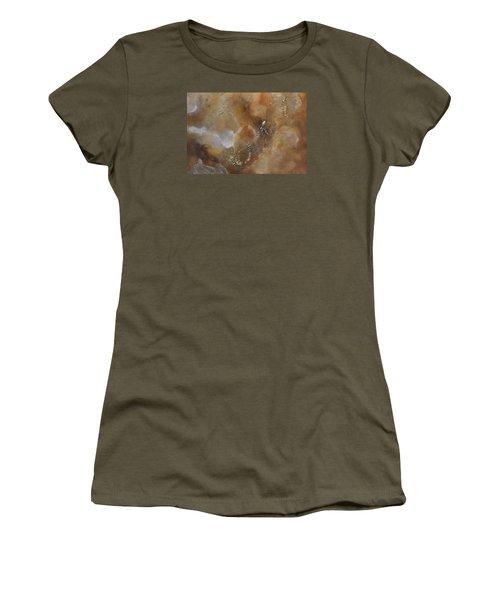 Women's T-Shirt (Junior Cut) featuring the painting Gold Bliss by Tamara Bettencourt