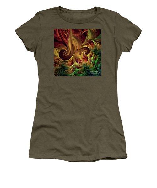 Gold Curl Women's T-Shirt