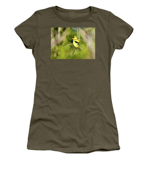 Gold Finch Women's T-Shirt (Athletic Fit)