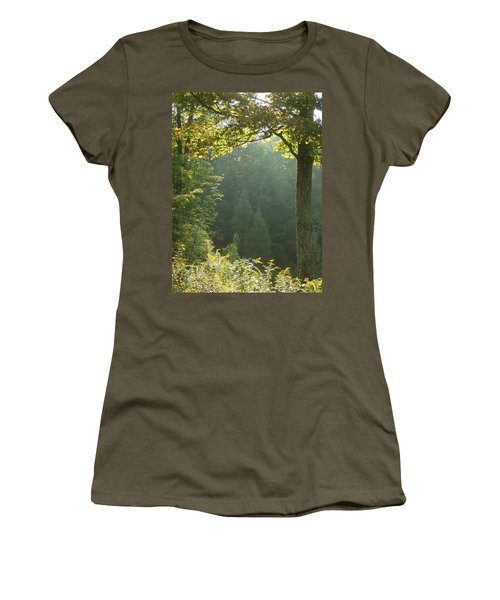 Gold On Green Women's T-Shirt (Athletic Fit)