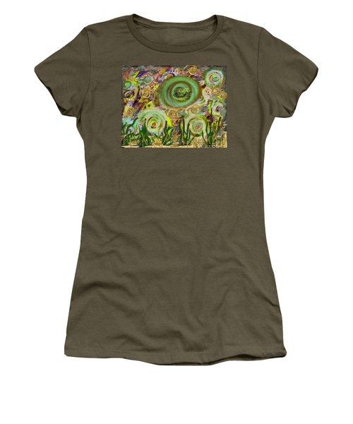 Gold Sand With Fish Illuminated Women's T-Shirt (Junior Cut) by Dan Twyman