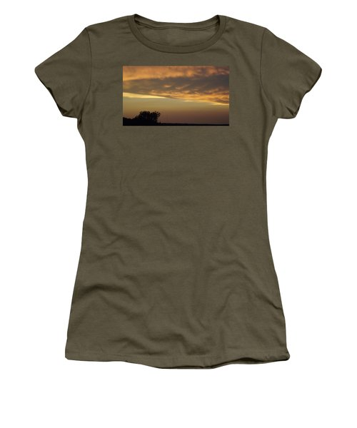 Gold Sky Over Lake Of The Ozarks Women's T-Shirt (Junior Cut) by Don Koester