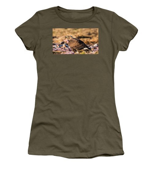 Women's T-Shirt (Junior Cut) featuring the photograph Golden Eagle's Back by Torbjorn Swenelius