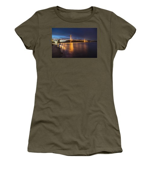 Golden Gate Blue Hour Women's T-Shirt (Junior Cut) by John McGraw