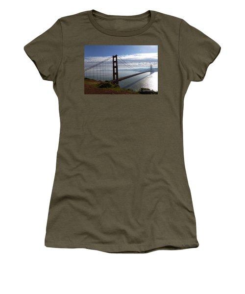 Golden Gate Bridge-2 Women's T-Shirt (Junior Cut) by Steven Spak