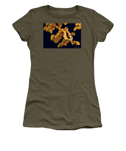 Women's T-Shirt (Athletic Fit) featuring the photograph Golden by Gene Garnace