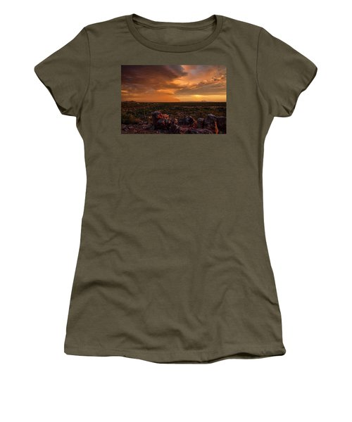 Golden Hour Desert Dust  Women's T-Shirt
