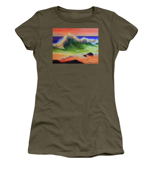 Golden Hour Sea Women's T-Shirt (Junior Cut) by Jeanette French