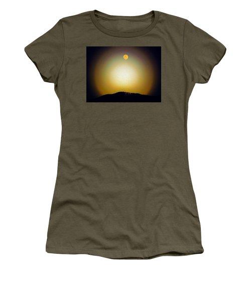 Golden Moon Women's T-Shirt (Junior Cut) by Joseph Frank Baraba