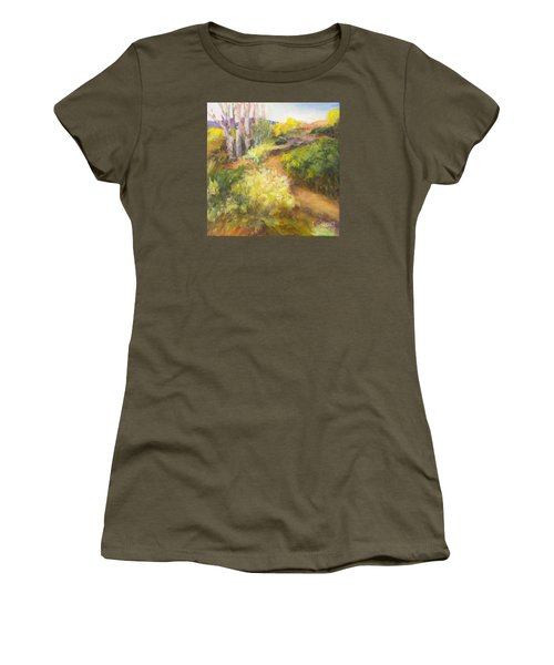 Golden Pathway Women's T-Shirt (Junior Cut) by Glory Wood