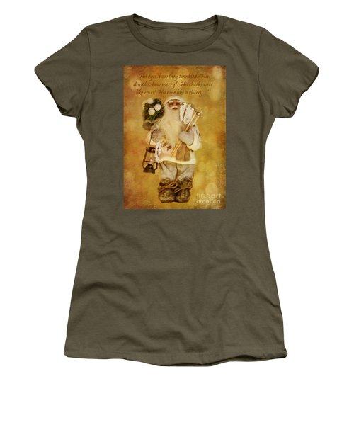 Golden Santa Card 2015 Women's T-Shirt