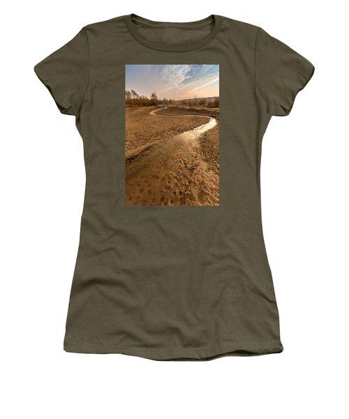 Women's T-Shirt (Junior Cut) featuring the photograph Golden Stream by Davorin Mance