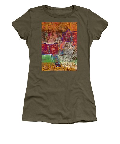 Women's T-Shirt (Junior Cut) featuring the painting Golden Truth by Angela L Walker