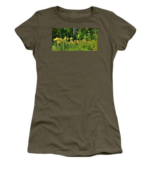Women's T-Shirt (Athletic Fit) featuring the photograph Goldenrod In The Adirondacks by David Patterson