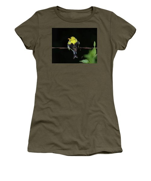 Goldfinch Women's T-Shirt (Junior Cut) by Ronda Ryan