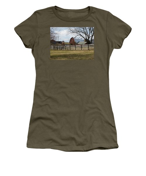 Good Old Barn Women's T-Shirt (Junior Cut) by Donald C Morgan