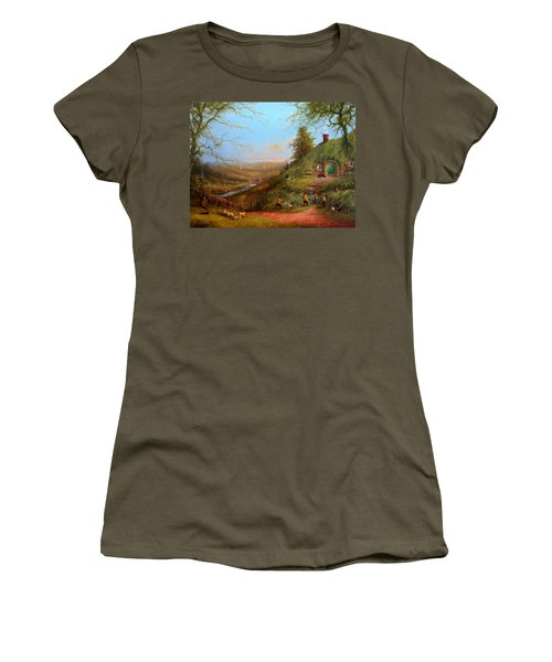 Gossip At The Gate Women's T-Shirt (Athletic Fit)