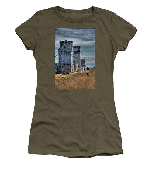 Grain Elevators, Wilsall Women's T-Shirt (Athletic Fit)
