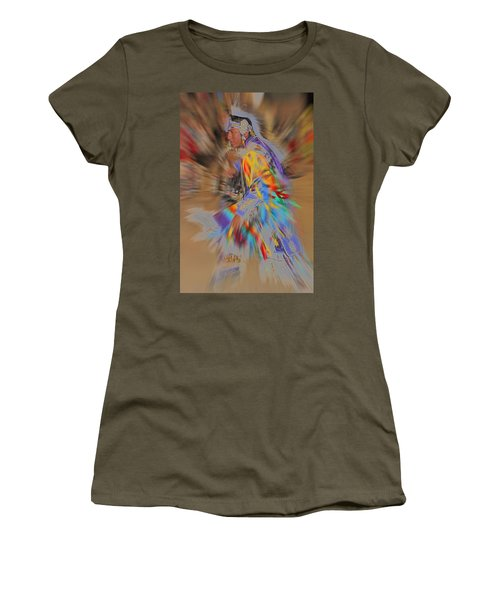 Grand Entry Moves Women's T-Shirt (Junior Cut) by Audrey Robillard