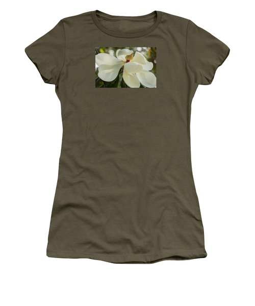 Women's T-Shirt (Athletic Fit) featuring the photograph Grand Magnolia  by Julie Andel