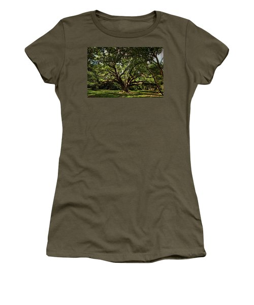 Grand Oak Tree Women's T-Shirt (Junior Cut) by Judy Vincent