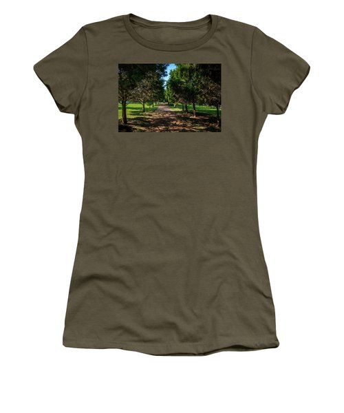 Women's T-Shirt (Athletic Fit) featuring the photograph Grand Pathway - The Hermitage by James L Bartlett