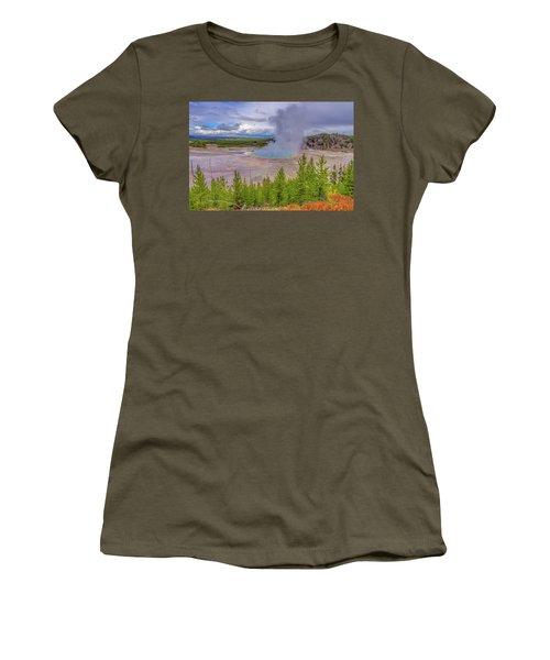 Grand Prismatic Spring Overlook Yellowstone Women's T-Shirt