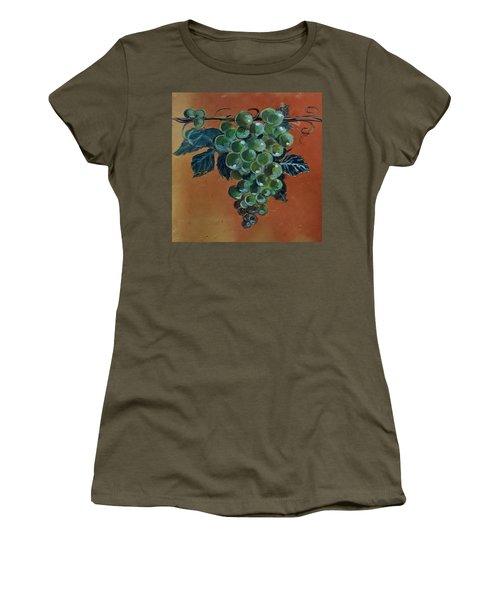 Grape Women's T-Shirt (Junior Cut) by Andrew Drozdowicz