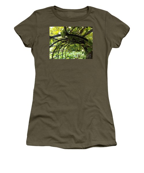 Grape Tunnel Women's T-Shirt (Junior Cut) by Erick Schmidt