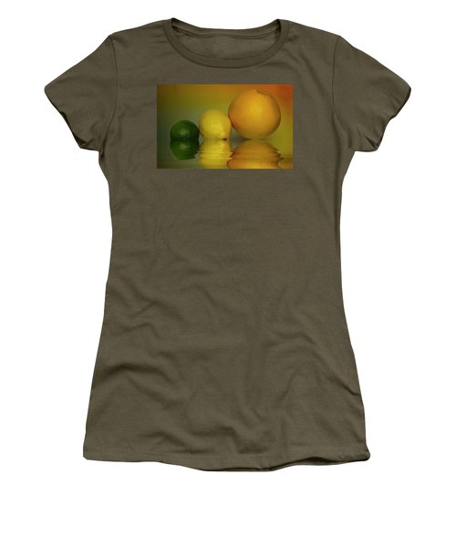 Women's T-Shirt (Junior Cut) featuring the photograph Grapefruit Lemon And Lime Citrus Fruit by David French