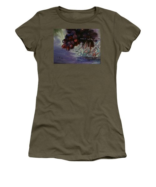 Grapes And Glass Women's T-Shirt