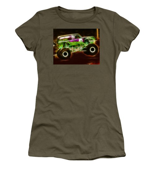 Grave Digger Monster Truck Women's T-Shirt (Junior Cut) by Paul Van Scott