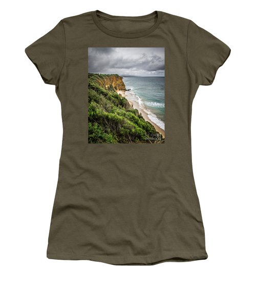 Women's T-Shirt (Junior Cut) featuring the photograph Gray Skies by Perry Webster