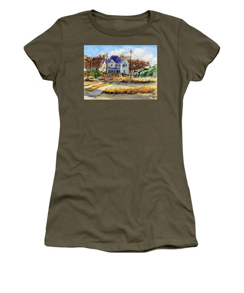 Grayson County Farmhouse Women's T-Shirt (Junior Cut) by Ron Stephens