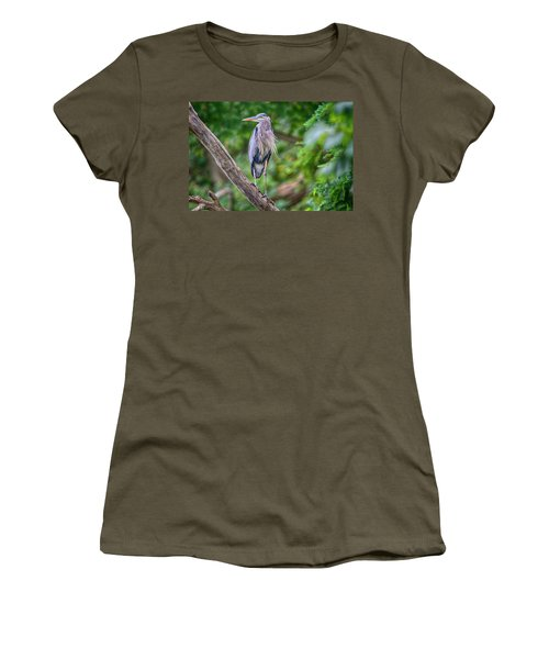 Great Blue Heron 2 Women's T-Shirt (Athletic Fit)