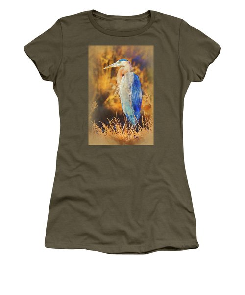 Women's T-Shirt (Athletic Fit) featuring the photograph Great Blue Heron by Bellesouth Studio