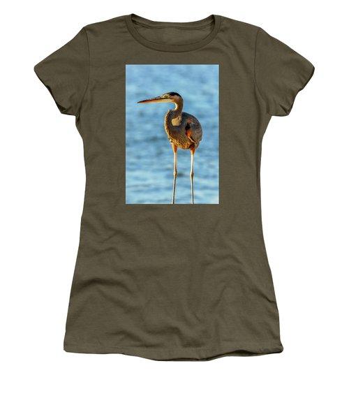 Great Blue Heron Closeup Women's T-Shirt