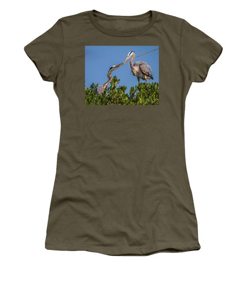 Great Blue Heron Nest Building Women's T-Shirt
