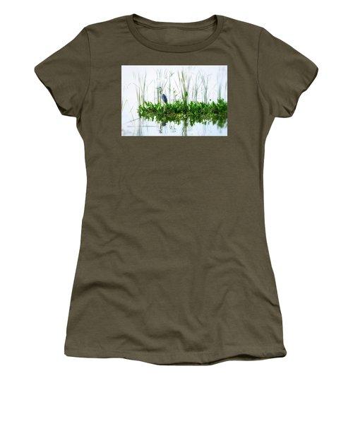 Great Blue On Green Island Women's T-Shirt