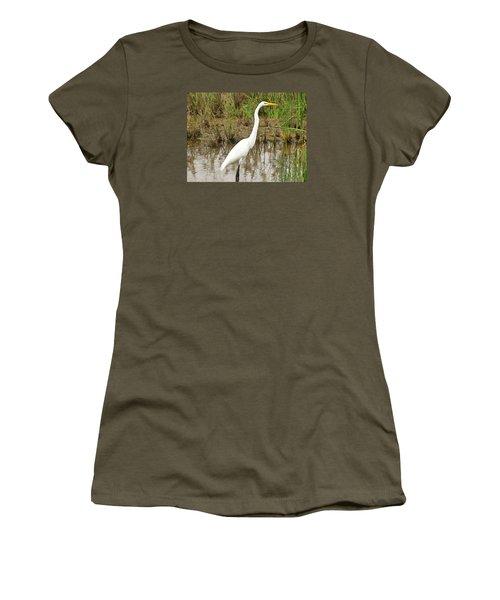 Great Egret Women's T-Shirt (Athletic Fit)
