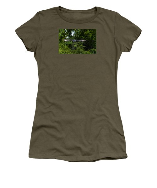 Great Grey Owl In Flight Women's T-Shirt