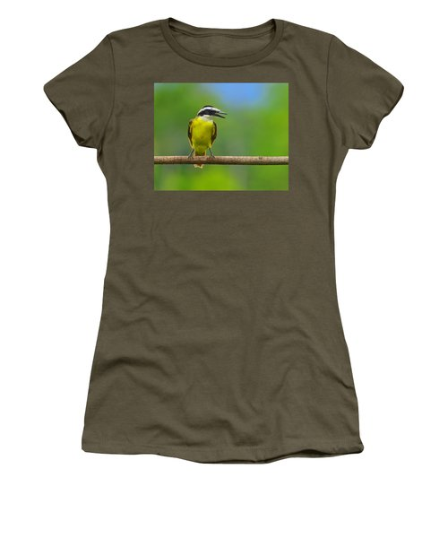 Great Kiskadee Women's T-Shirt (Junior Cut) by Tony Beck