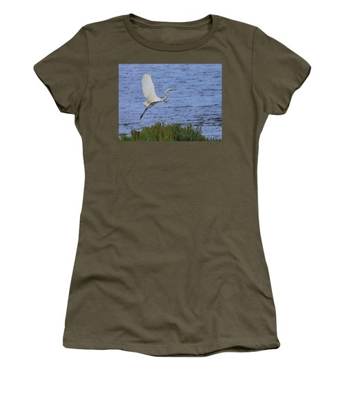Great White Egret Women's T-Shirt (Athletic Fit)
