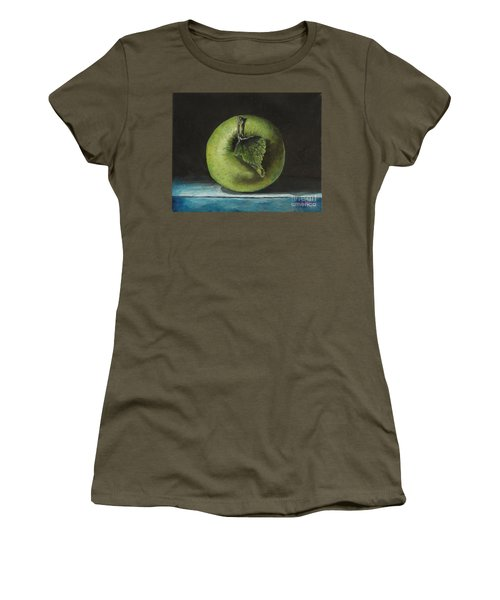 Green And Yellow Apple Women's T-Shirt (Athletic Fit)