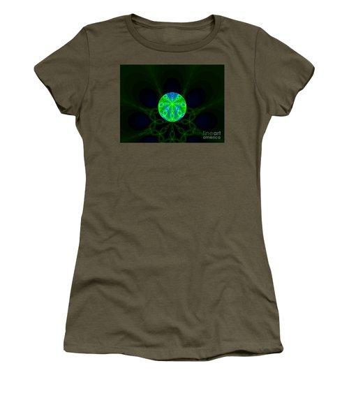 Green Blue World Fractal  Women's T-Shirt