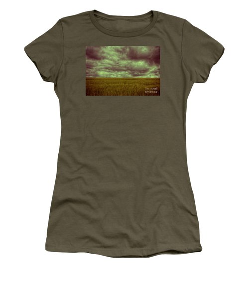 Green Fields 3 Women's T-Shirt (Junior Cut) by Douglas Barnard
