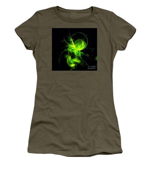 Green Flame Fractal Women's T-Shirt