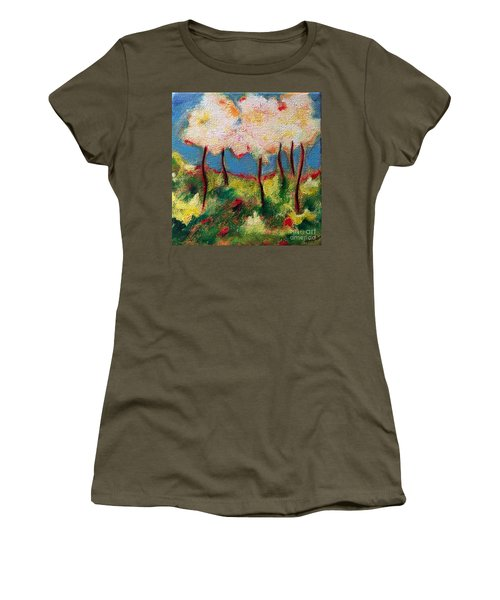 Green Glade Women's T-Shirt (Junior Cut) by Elizabeth Fontaine-Barr
