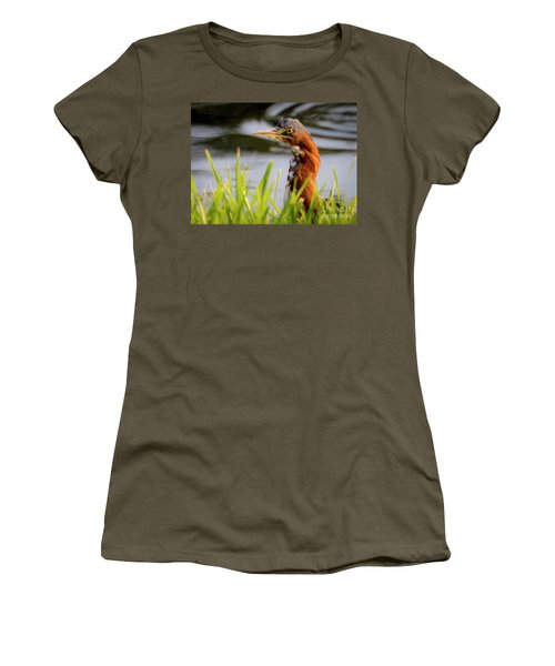Green Heron Closeup  Women's T-Shirt (Athletic Fit)