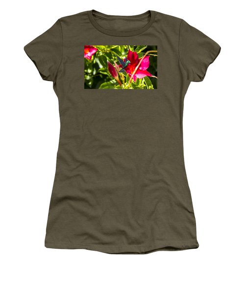 Green Hummingbird Women's T-Shirt (Junior Cut) by Pat Cook